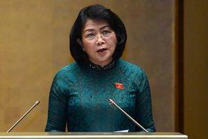 Bà Đặng Thị Ngọc Thịnh thay Chủ tịch nước Nguyễn Phú Trọng trình bày tờ trình gia nhập Công ước 98