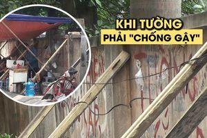 Mặc kệ Tử Thần, vô tư uống trà đá dưới bức tường chờ sập ở Hà Nội