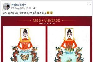 Hoàng Thùy chia sẻ hài hước 'Cho mình lên Hương sớm thế bạn gì ơi'