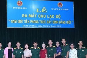 Sư đoàn 9: Ra mắt CLB 'Nam giới tiên phong thúc đẩy bình đẳng giới'