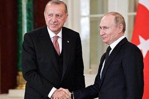 Lãnh đạo Nga-Thổ điện đàm về tình hình Syria