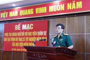 Phúc tra ngoại ngữ đối với học viên quân sự