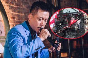 Tuấn Hưng tiết lộ về tình trạng siêu xe 'vỡ nát đầu' sau vụ tai nạn