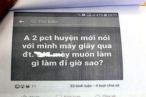 Cán bộ huyện kiện cán bộ tỉnh vì cho rằng bị xúc phạm trên Facebook