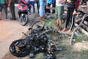 Tai nạn liên hoàn trên quốc lộ 1, một phụ nữ chết cháy dưới gầm xe