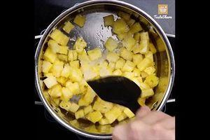 Công thức làm bánh bông lan trái dứa xốp mềm, thơm ngon đúng chuẩn
