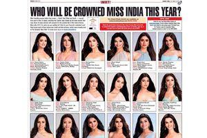 Thí sinh Hoa hậu Ấn Độ gây tranh cãi vì nhan sắc quá giống nhau