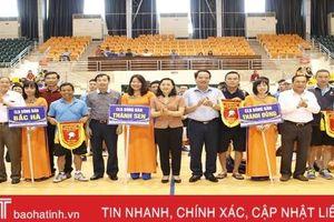 Khai mạc Giải Bóng bàn Báo Hà Tĩnh mở rộng năm 2019
