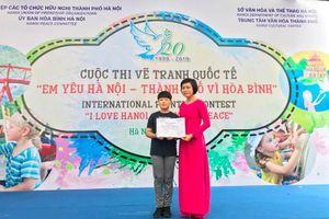 Thi vẽ tranh 'Em yêu Hà Nội - Thành phố vì hòa bình'