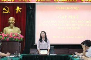 Ủy ban Dân tộc gặp mặt Đoàn học sinh Trường phổ thông DTNT - THCS huyện Đam Rông, tỉnh Lâm Đồng