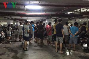 Cháy tầng hầm chung cư cao cấp Hapulico, cư dân bị bưng bít thông tin?