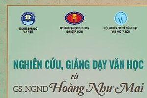 Những đóng góp lớn lao của cố NGND - GS Hoàng Như Mai