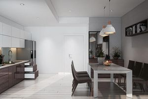 Những mẫu phòng bếp chung cư cực tiện nghi cho gia đình trẻ