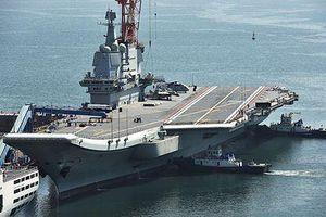 Tàu sân bay Trung Quốc tự đóng bắt đầu tập cất, hạ cánh tiêm kích trên hạm