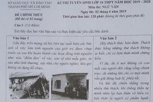 Đề thi và gợi ý đáp án môn Ngữ văn lớp 10 THPT tại Tp. Hồ Chí Minh