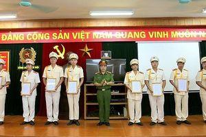 223 cán bộ chiến sỹ Cảnh sát cơ động Hà Nội được thăng cấp bậc hàm năm 2019