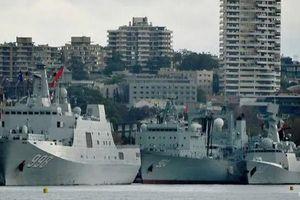 Tàu chiến Trung Quốc gây bất ngờ tại bến cảng Sydney