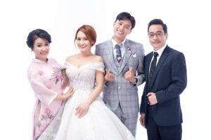 Hé lộ bộ ảnh cưới 'xinh lung linh' của cặp đôi Quốc Trường - Bảo Thanh trong 'Về nhà đi con'