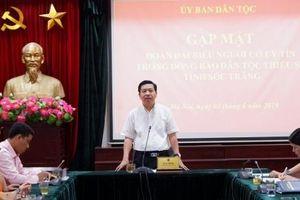 Ủy ban Dân tộc gặp mặt Đoàn đại biểu Người có uy tín trong đồng bào DTTS tỉnh Sóc Trăng