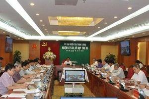 Ủy ban Kiểm tra Trung ương xem xét, thi hành kỷ luật một số cán bộ