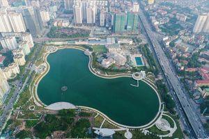 Hồ điều hòa gần 300 tỷ VNĐ bị ô nhiễm