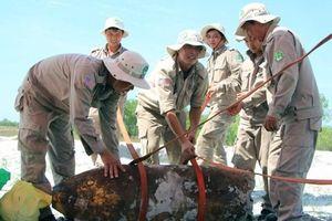 Phát hiện quả bom nặng hơn 300kg bị tháo gỡ để lấy thuốc nổ