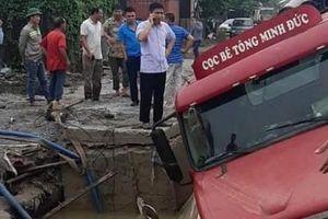 Vụ xe container gây vỡ đường ống nước: Người dân Thủ đô có bị ảnh hưởng?
