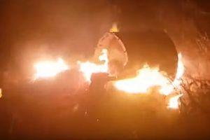 Chưa xác định được vật thể bí ẩn cháy ngùn ngụt sau khi Israel bắn tên lửa vào Syria