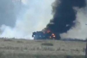 Xe tải của lực lượng vũ trang Ukraine đã bị phá hủy bởi một tên lửa dẫn đường