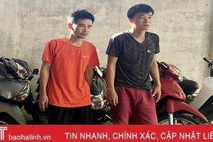 Bắt khẩn cấp các đối tượng đập kính ô tô trộm tài sản trên địa bàn TP Hà Tĩnh