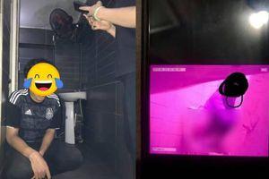 Gã trai bị bắt quả tang đặt camera quay lén trong toilet quán cà phê ở TP.HCM