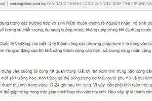 PKĐK Viet Sing quảng cáo dịch vụ không được Sở Y tế Hà Nội cấp phép?