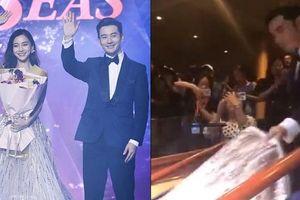Huỳnh Hiểu Minh nâng váy cho Angela Baby, tình cảm giữa tin đồn ly hôn