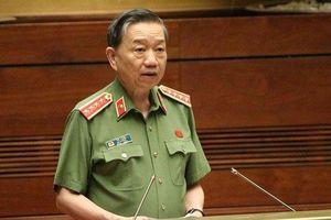Bộ trưởng Công an Tô Lâm đăng đàn đầu tiên trả lời chất vấn Quốc hội