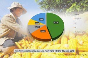 Việt Nam mua, bán rau quả nhiều nhất ở thị trường nào?