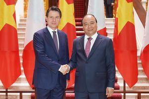 Hình ảnh: Thủ tướng Nguyễn Xuân Phúc đón, hội đàm với Thủ tướng Italy