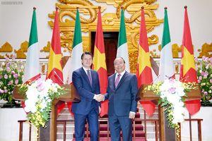 Thủ tướng Việt Nam và Italy nhất trí đưa kim ngạch thương mại lên 6 tỷ USD vào năm 2020