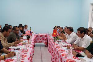 Hội đàm nâng cấp cửa khẩu Tân Nam - Mien Chay