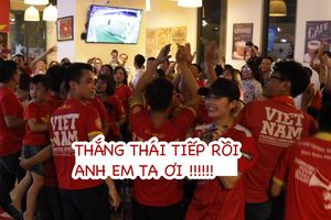 Việt Nam chiến thắng Thái Lan, cổ động viên vỡ òa cảm xúc