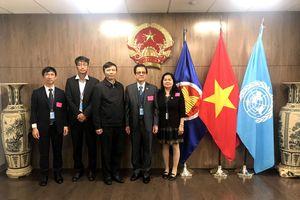 Ủy viên BCHTW Đảng, Phó Chánh án TANDTC Lê Hồng Quang tham dự phiên họp của LHQ tại Hoa Kỳ