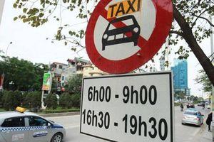Hà Nội công bố 11 tuyến đường cấm taxi hoạt động