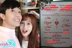 Rò rì hình ảnh được cho là thiệp cưới của Youtuber đình đám Cris Phan và bạn gái hotgirl FAP TV - Mai Quỳnh Anh?