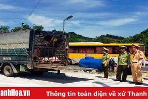 Bắt xe tải chở lợn không có tờ kiểm dịch từ Hà Nam vào Thanh Hóa tiêu thụ
