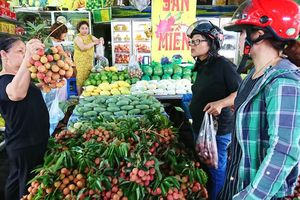 Hà Nội: Vải thiều, mận hậu tăng mạnh giá trước ngày Tết Đoan ngọ