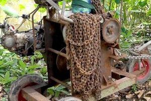 Hai Lúa ở An Giang chế máy tời, 1 giờ kéo được hàng tấn gỗ