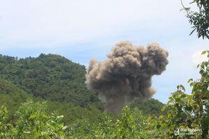 Phát hiện, tiêu hủy an toàn quả bom sát thương nặng 350kg tại Nghệ An