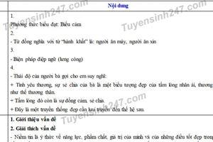Đáp án đề thi tuyển sinh lớp 10 môn Ngữ văn năm 2019 ở Nghệ An