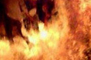 Lời kể của hàng xóm chứng kiến vụ vợ tưới xăng, châm lửa đốt chồng