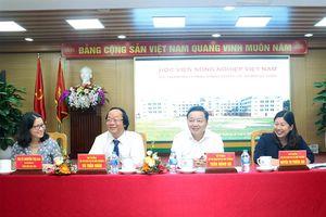 Lãnh đạo Bộ TN&MT làm việc với Học viện Nông nghiệp Việt Nam