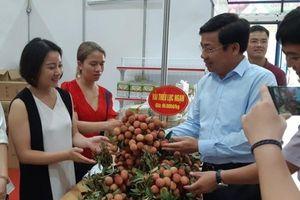 Người Hà Nội được ăn vải thiều Lục Ngạn loại 1 với giá 60.000 đồng/kg